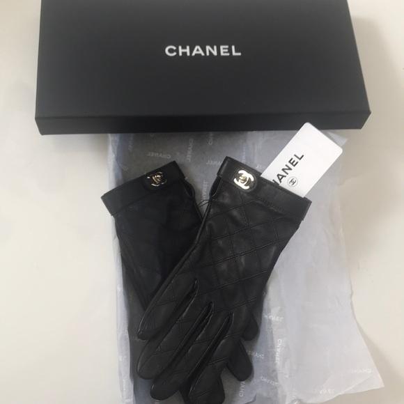 d62c7fc5 CHANEL Accessories | Lambskin Leather Black Gloves | Poshmark
